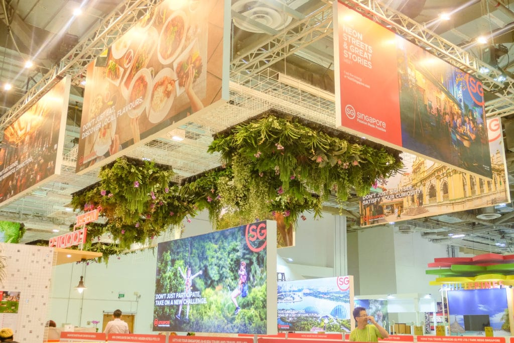 Inverted Green Wall Plant Display by Prince's