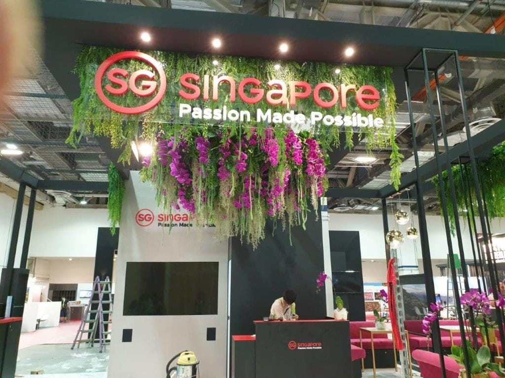 Inverted Green Wall Plant Display by Prince's for Singapore Tourism Board