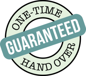 One-Time Hand Over Guaranteed Logo