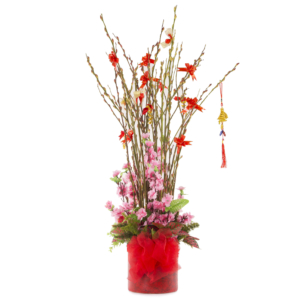 CNY PUSSY WILLOW ARRANGEMENT A